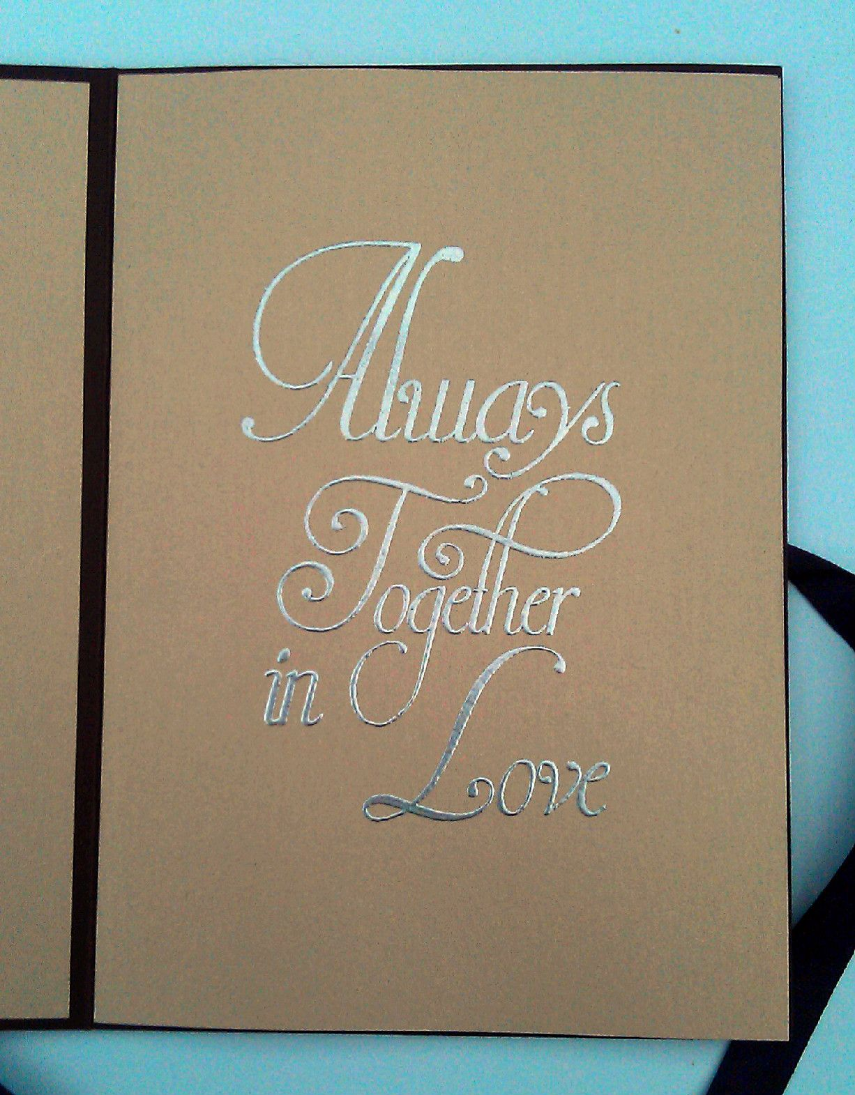 inside cover of victorian style wedding invitation cardmaking