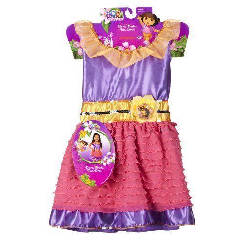 Girls Nickelodeon Dora Fiesta Fun Costume Dress BNWT Sz 3-5T Dress Up Fun!! #Nickelodeon #Dress
