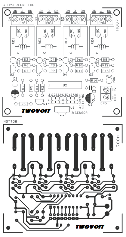 4 Channel Infra Red Remote Controller Using Ht12a Ht12d And 4 Relay 2 4 Channel Relay Electrical Wiring Diagram