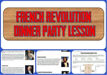 french revolution dinner party project tpt social studies lessons french revolution high. Black Bedroom Furniture Sets. Home Design Ideas