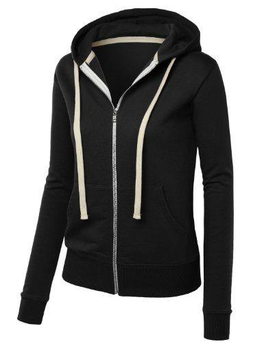MBJ Womens Premium Active Soft Zip Up Fleece Hoodie Sweater Jacket $16.19 (56% OFF)