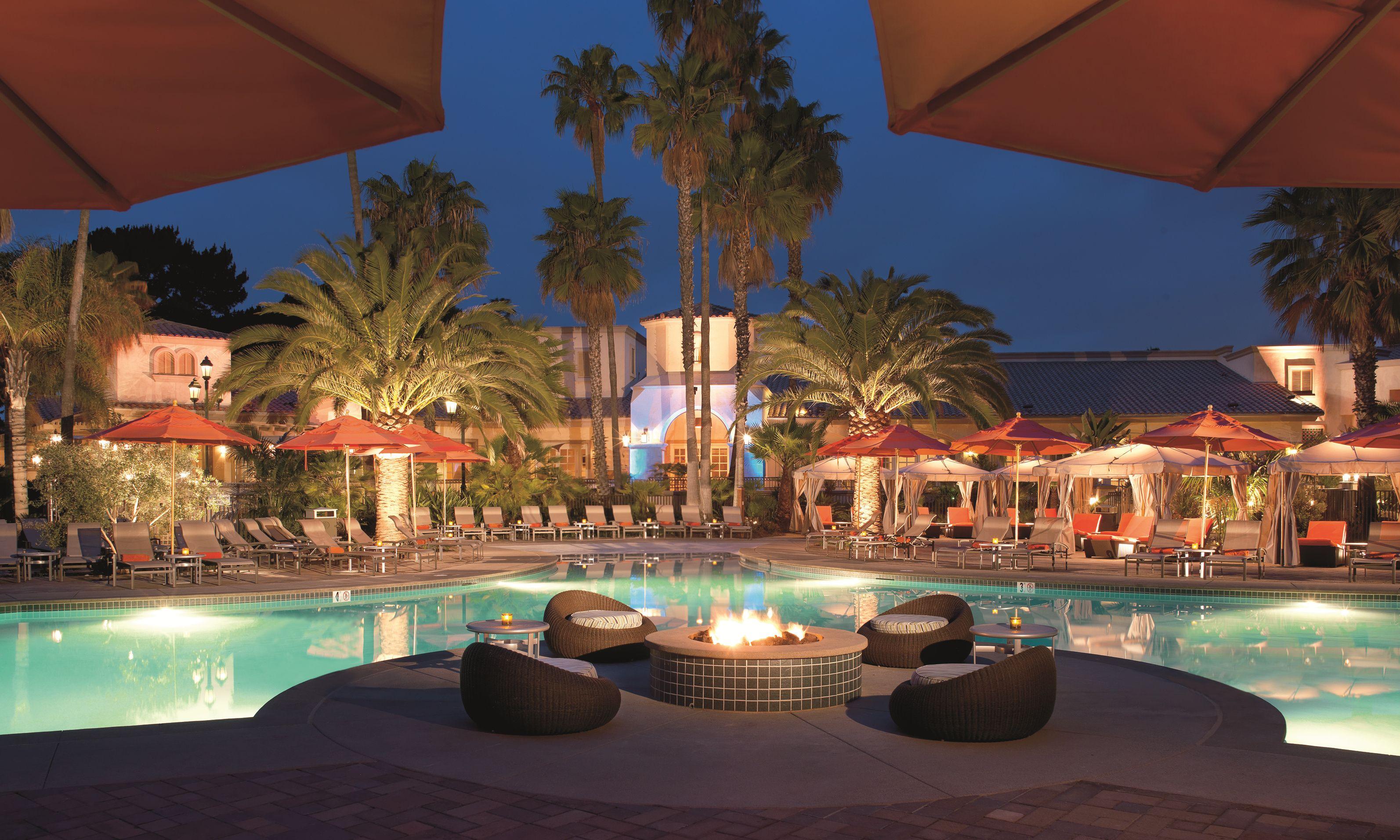 Hilton San Diego Resort - Fire Pit by the Pool | Hilton ...