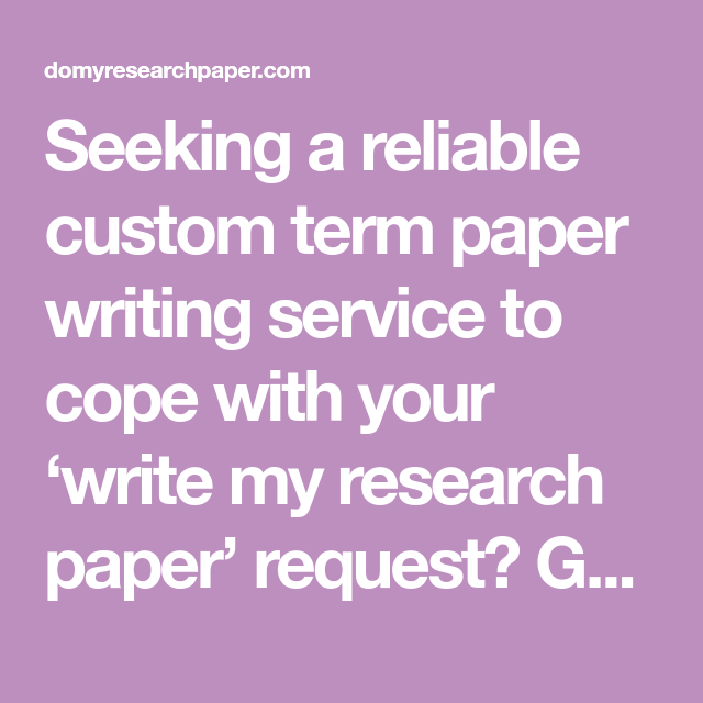 Term paper writing companies