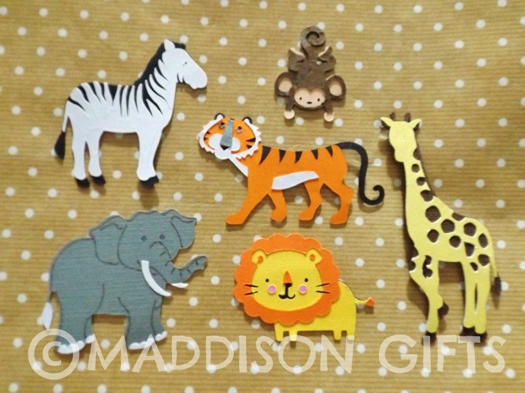 Jungle animals card making toppers scrapbooking embellishments jungle animals card making toppers scrapbooking embellishments kids crafts paper craft supplies by maddycraftsco on etsy jeuxipadfo Image collections