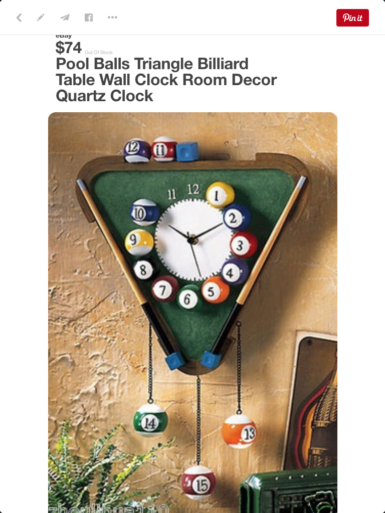 Eight Ball Game Room PERSONALIZED Wall Clock Billiard Pool Man Cave GIFT