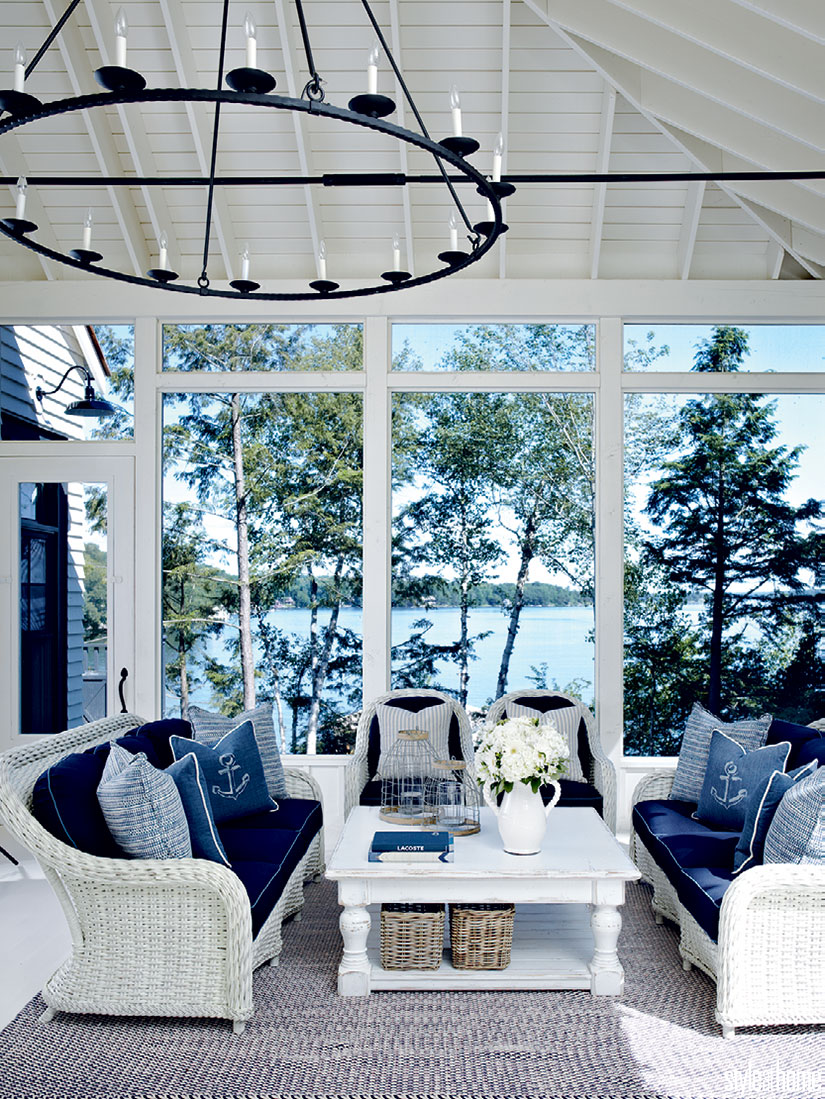 House tour: Coastal-style cottage | Style at Home in 2020 ... on Outdoor Living Space Builders Near Me id=25559