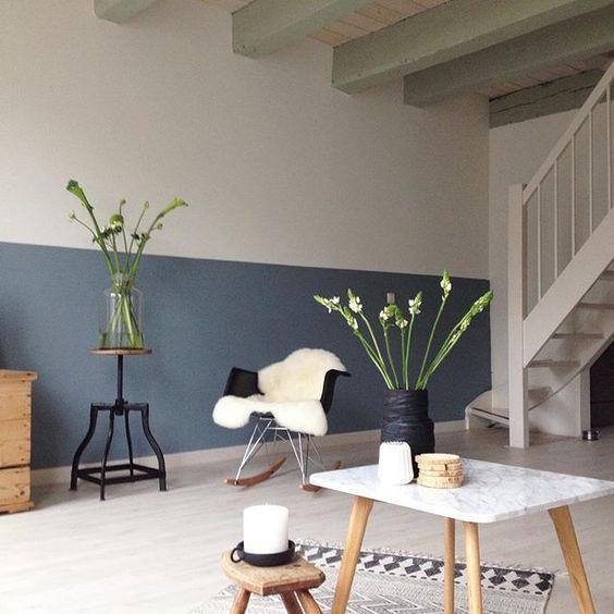 Color crush: grijsblauw in 2018   Gekleurde muren   Pinterest
