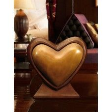 Two Hearts As One Bronze Cremation Urn | An Urn for Two | Our bronze companion urn is a heart shaped double capacity vessel designed to hold the ashes of two people, also known as companion urns.