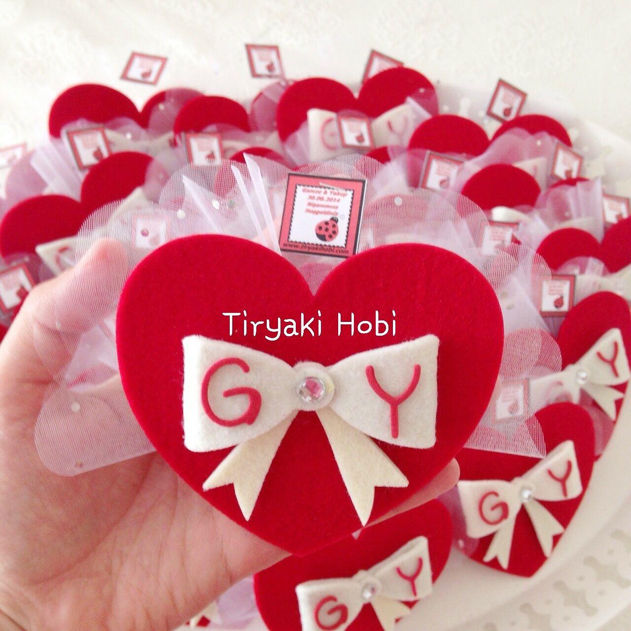 ♥ Tiryaki Hobi ♥: keçe nişan magneti / nikah şekeri (gamze & yakup ...
