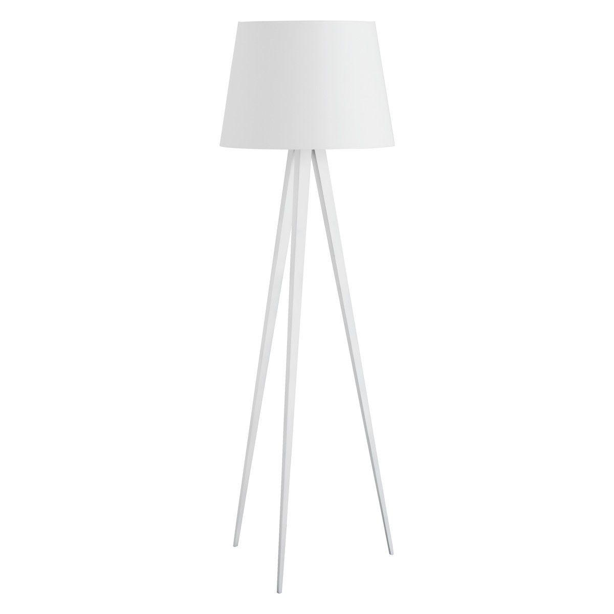 YVES White Floor Lamp With White Shade