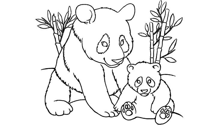 Top 25 Free Printable Cute Panda Bear Coloring Pages Online Panda Coloring Pages Bear Coloring Pages Horse Coloring Pages