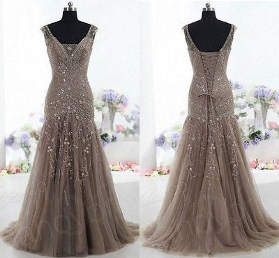 High Quality Brown Tull Evening Dresses Party Dresses Cocktail Dress US 2 4 6 8 | eBay