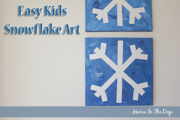 Superior Snowflake Craft Ideas For Kids Part - 12: Easy Kids Snowflake Art - Tape Off Or Glue Paper Strips On After The Paint  Has