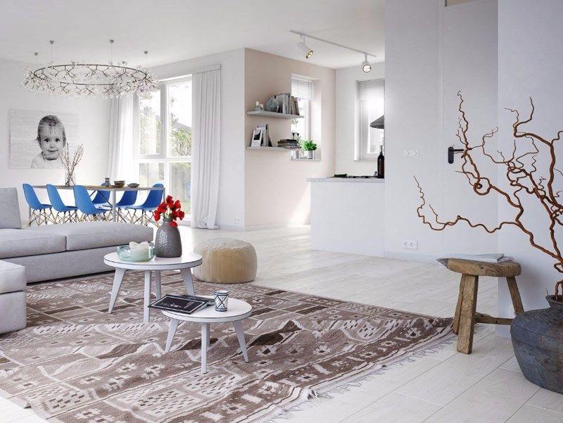 Woonstijl interieur impressie woonkamer met grijze hoekbank