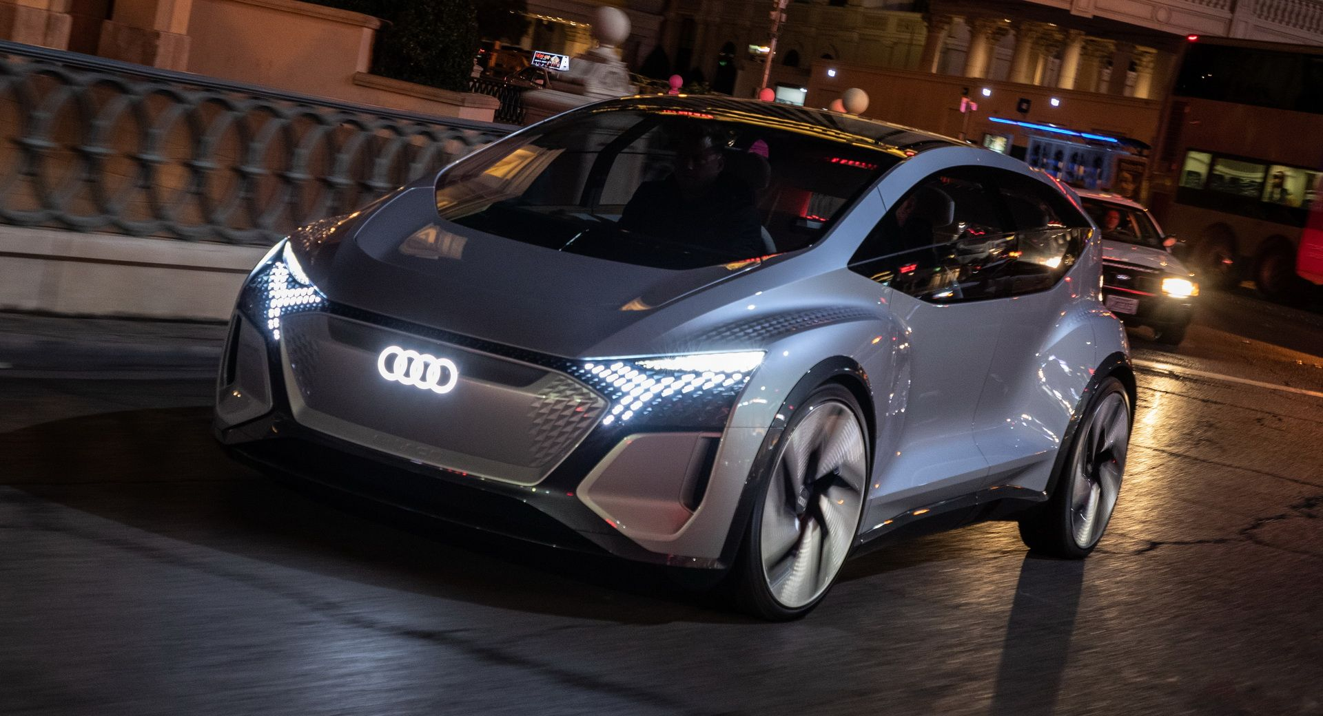 Audi's Futuristic Take On The VW ID.3 EV, The AI:ME, Hits The Las Vegas Strip