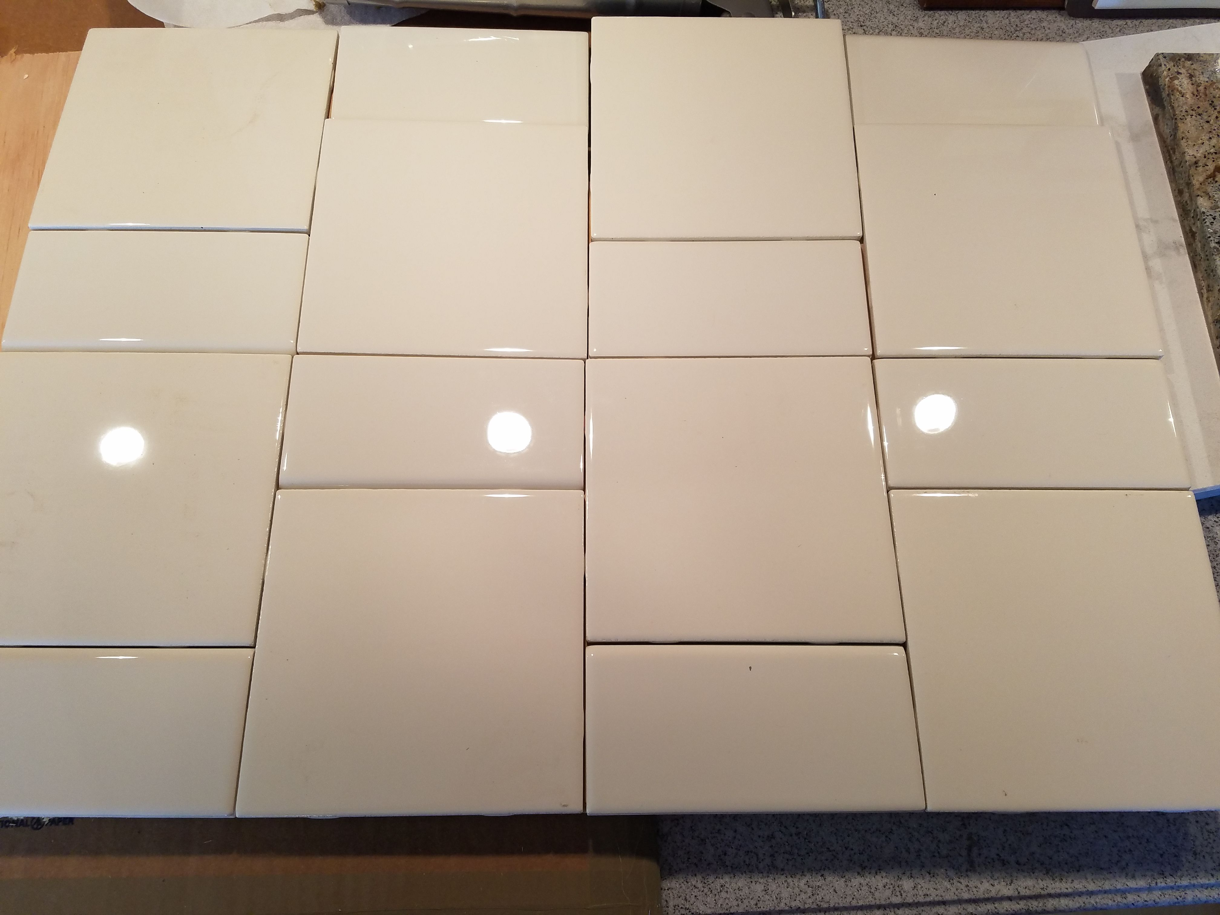 Alternating Vertical Pattern Using 6x6 And 3x6 Flooring Tile
