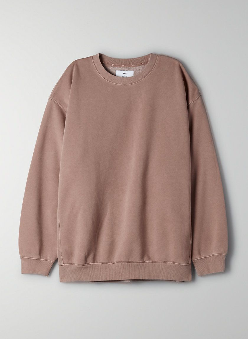 Cozy Fleece Mega Crew Sweatshirt In 2021 Crewneck Sweatshirt Outfit Sweatshirt Outfit Sweatshirt Fashion [ 1147 x 840 Pixel ]