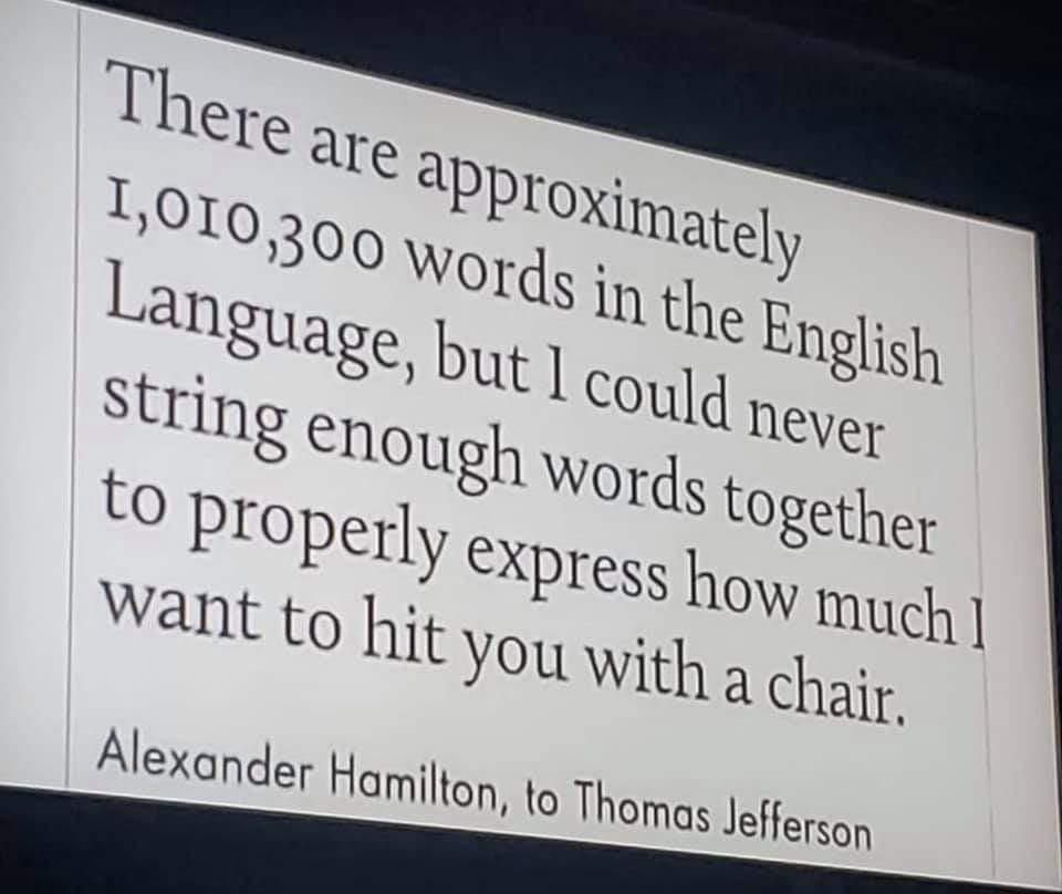 There Are Approximately 1010300 Words In The English Language Alexander Hamilton 960x808 Funny Insults And Comebacks Funny Insults Comebacks And Insults