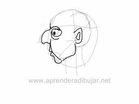 Como Dibujar Una Cara De Perfil Tipo Caricatura Paso 1 Como Dibujar Una Cara Dibujos De Caras Como Dibujar