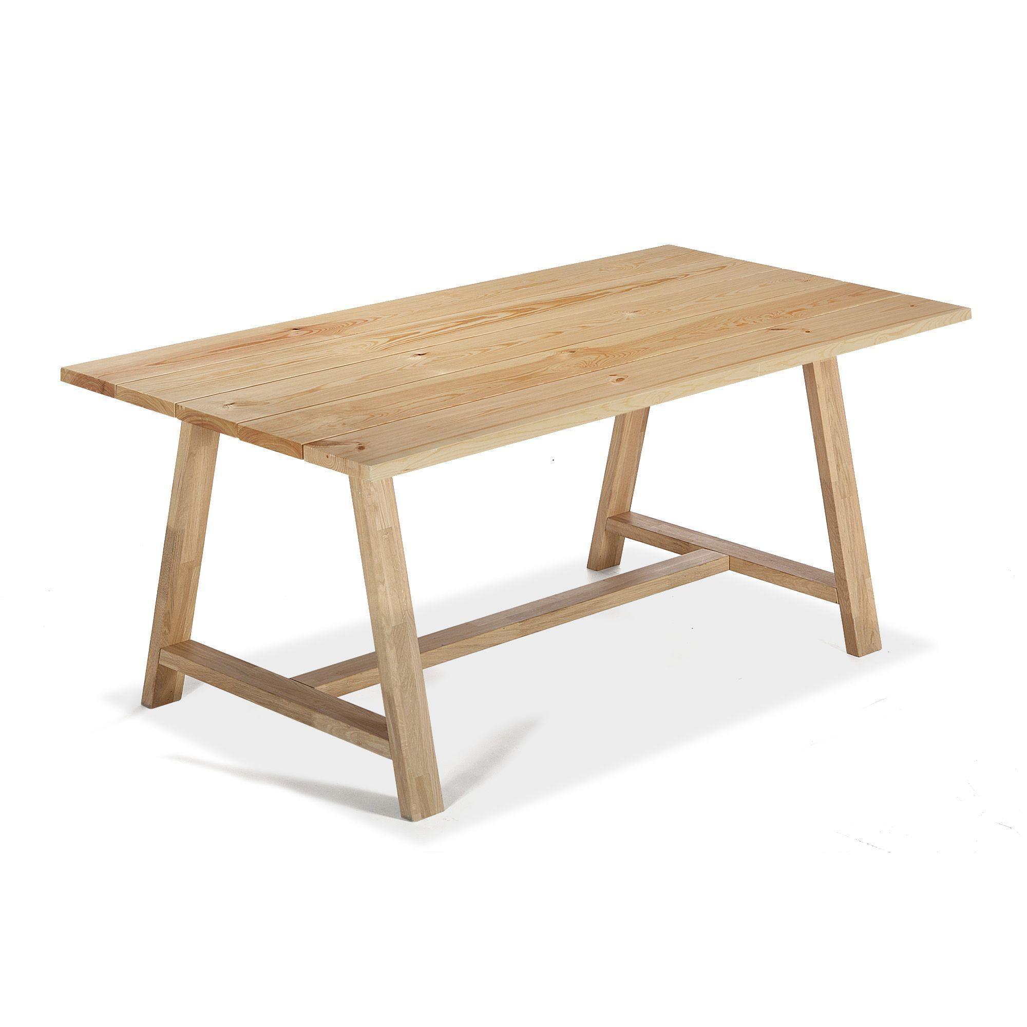 Chaises Alinea Salle A Manger: Table De Repas 90x180cm En Pin Naturel