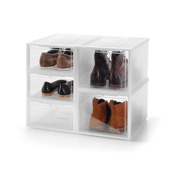 Boite chaussure homme femme boite transparent et - Boite chaussure transparente pas cher ...