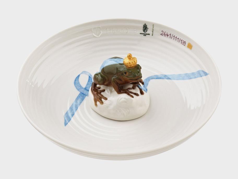 Schale mit Frosch Porzellan Manufaktur Nymphenburg Mooi - ausgefallene geschirr und bucherschrank designs
