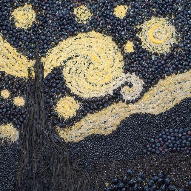 La Noche Estrellada Art by: Tatiana Shkondina