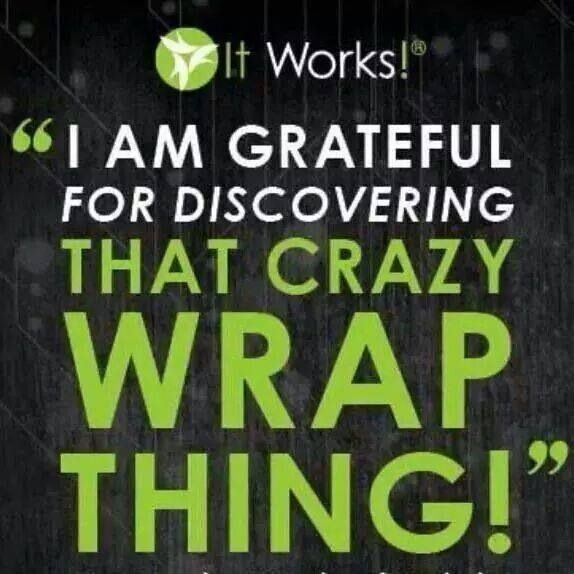 Not only because I have had incredible results using the wraps and other products but also because this business is an incredible opportunity! $99 to start your own business with It Works! www.brennaholmstrom.myitworks.com
