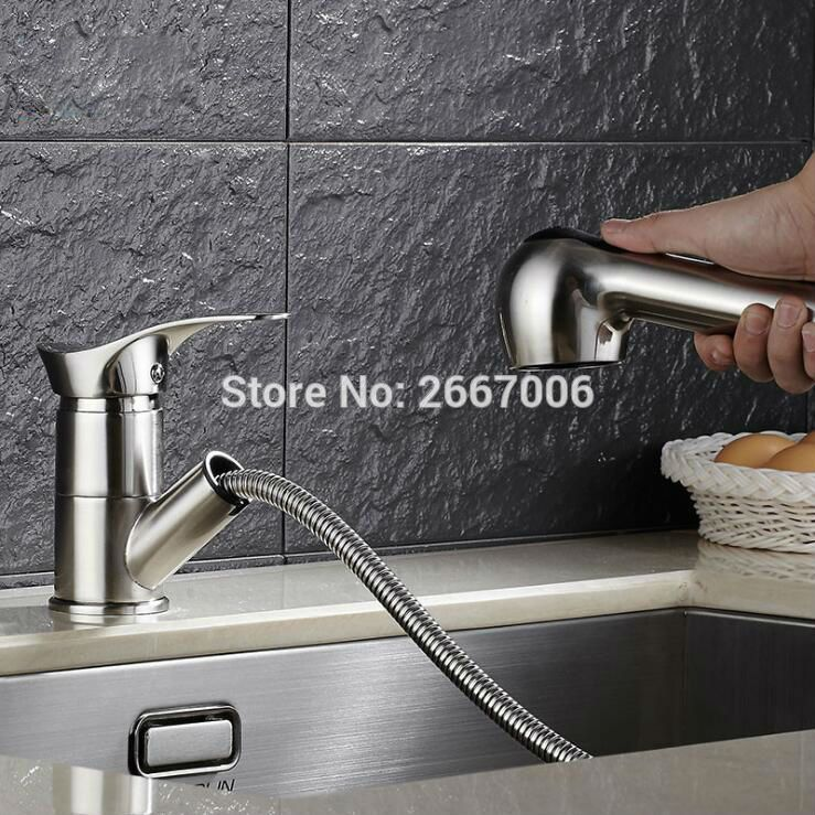 Gizero Free Shipping New Long Spout Pull Out Sprayer Kitchen Deck