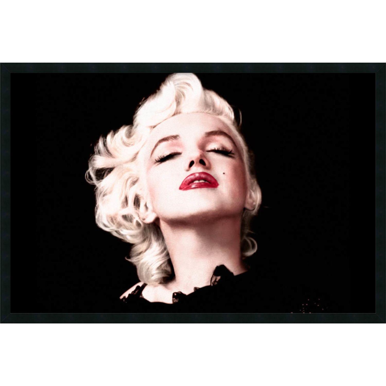 Marilyn Monroe - Eyes Shut\' Framed 37 x 25-inch Art Print with Gel ...