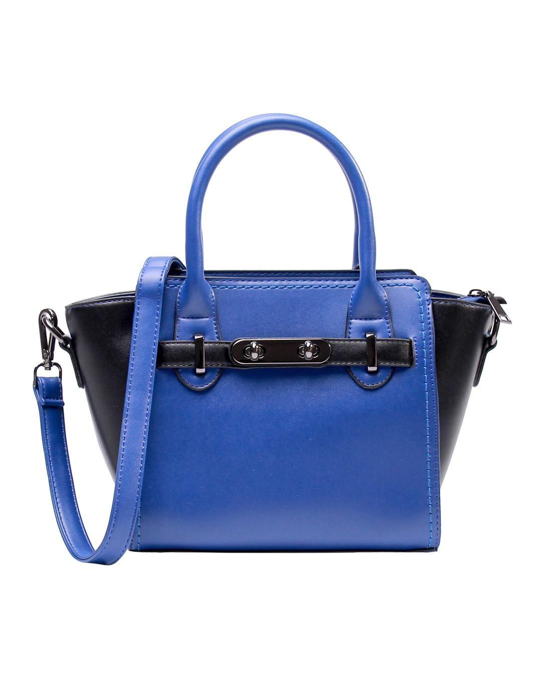 #AdoreWe #VIPme Crossbody Bags - LANNIU Blue Fashion Twist Lock Satchel Shoulder Bag - AdoreWe.com