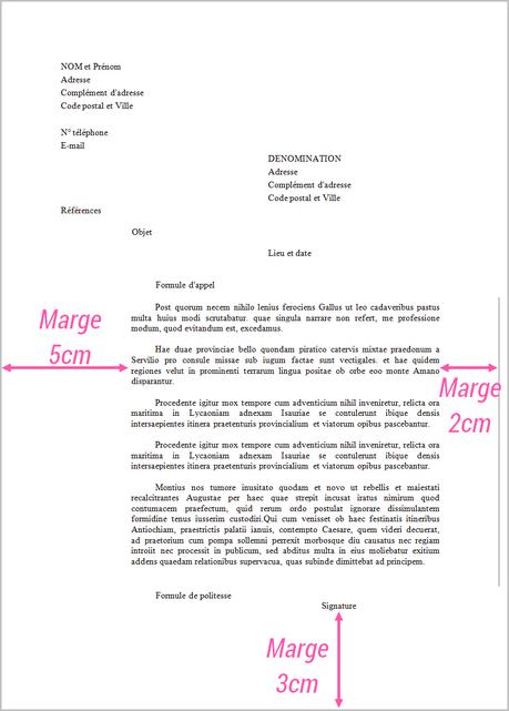 un exemple d une lettre administrative
