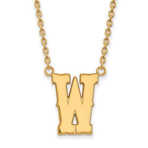 Money Clip UW 10k White Gold LogoArt Official Licensed Collegiate The University of Wyoming