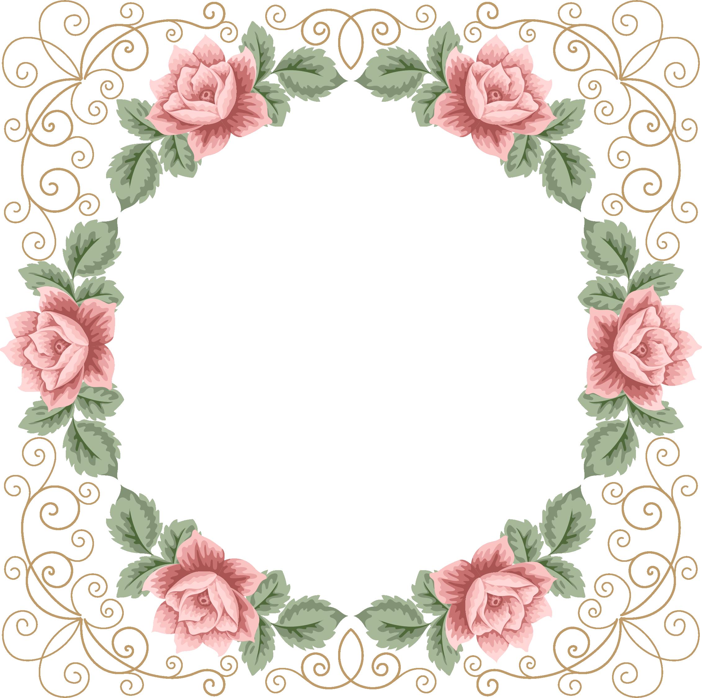 Freedesignfile.com / Floral Frame