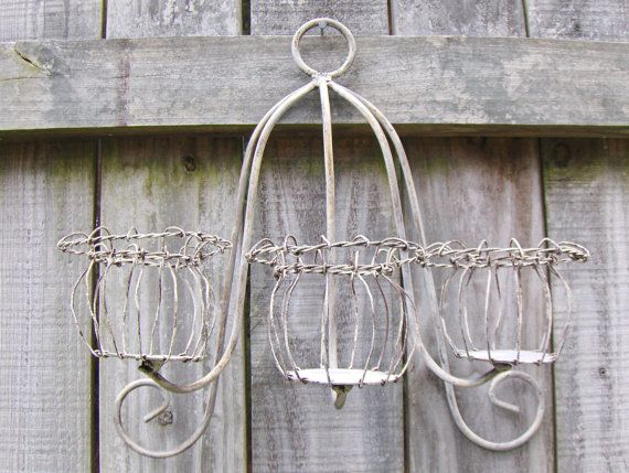 Vintage Votive Candle Holder Wall Hanging Metal by MyVintageAlcove, $39.99