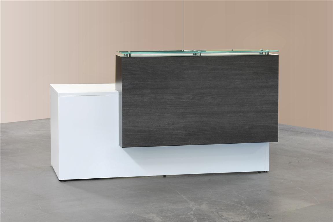Home gt reception desks gt 12 curved walnut glass top reception desk - Custom Reception Desk Google Search