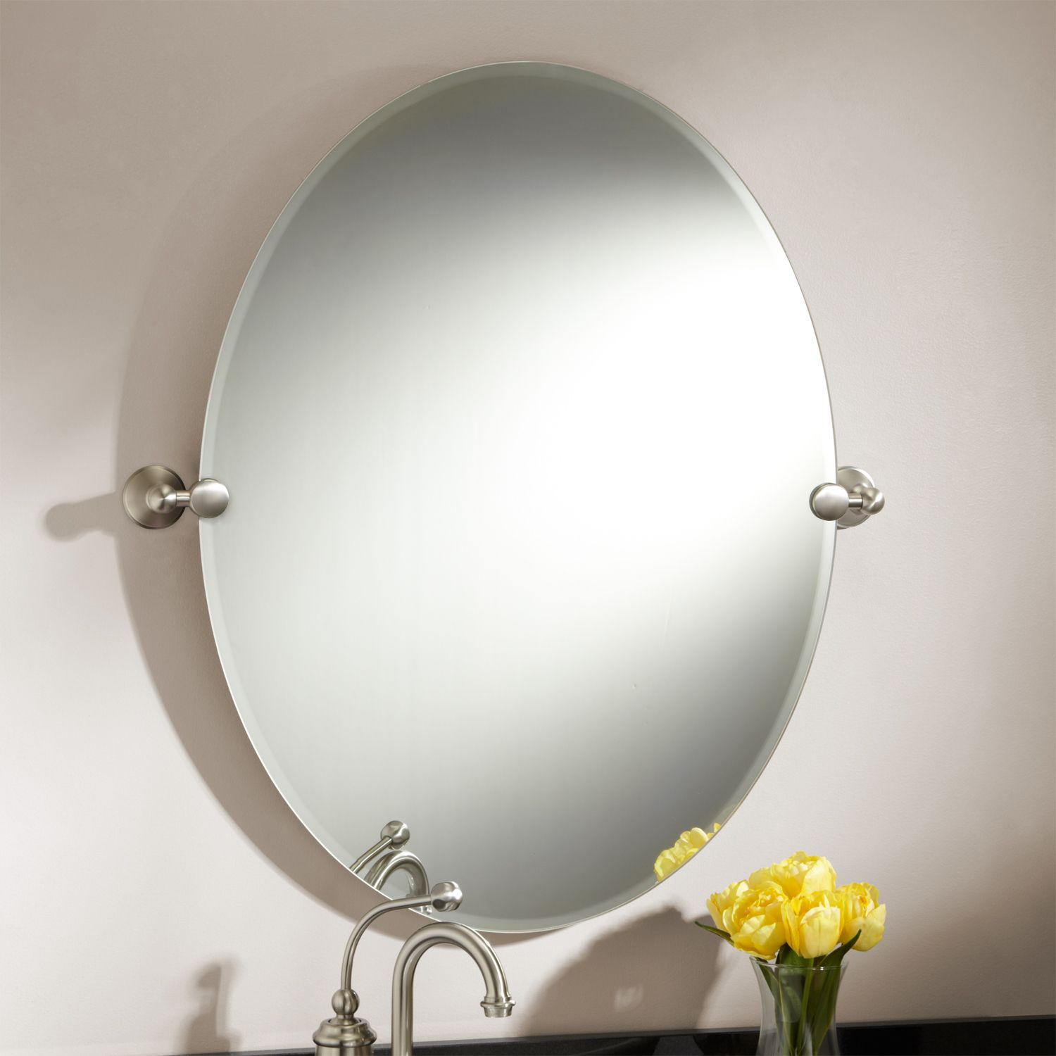 31 Fargo Oval Tilting Mirror Chrome Code 112561 Two Sizes And
