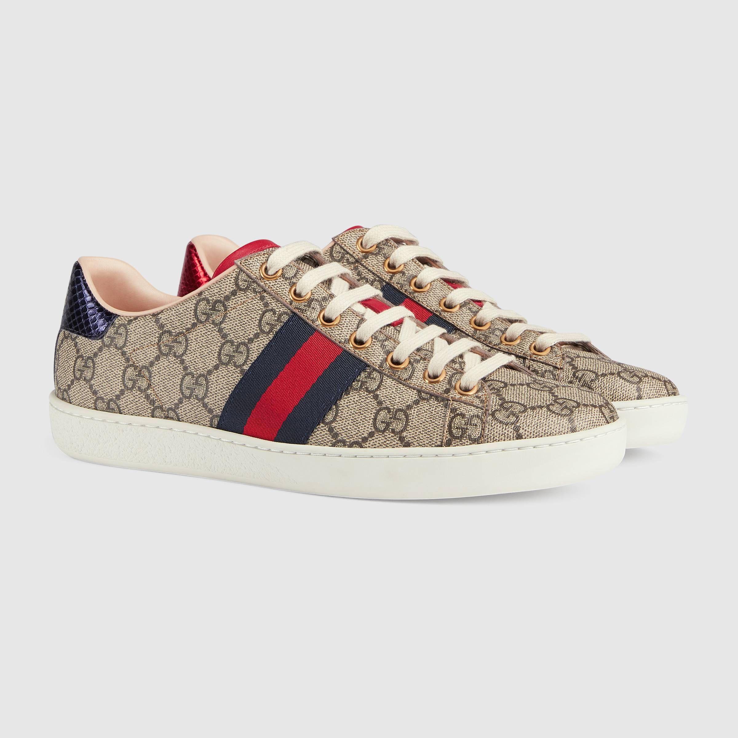 san francisco d2951 be2e4 Ace GG Supreme sneaker - Gucci Women s Sneakers 499410K2LH09768