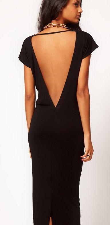 Combinar vestido negro largo fiesta