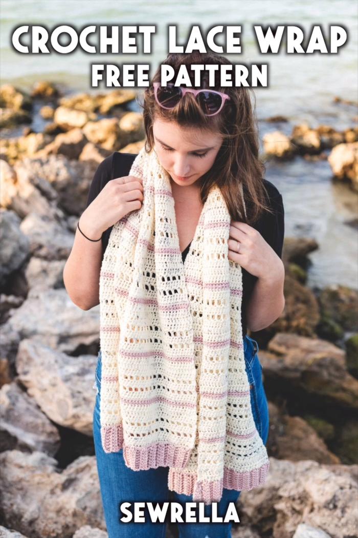 Photo of Crochet Lace Wrap – free pattern