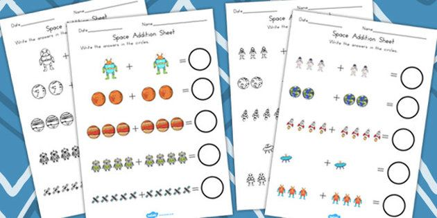 Space Addition Sheet - Worksheet, Worksheets, Adding, Numeracy - student sign in sheet