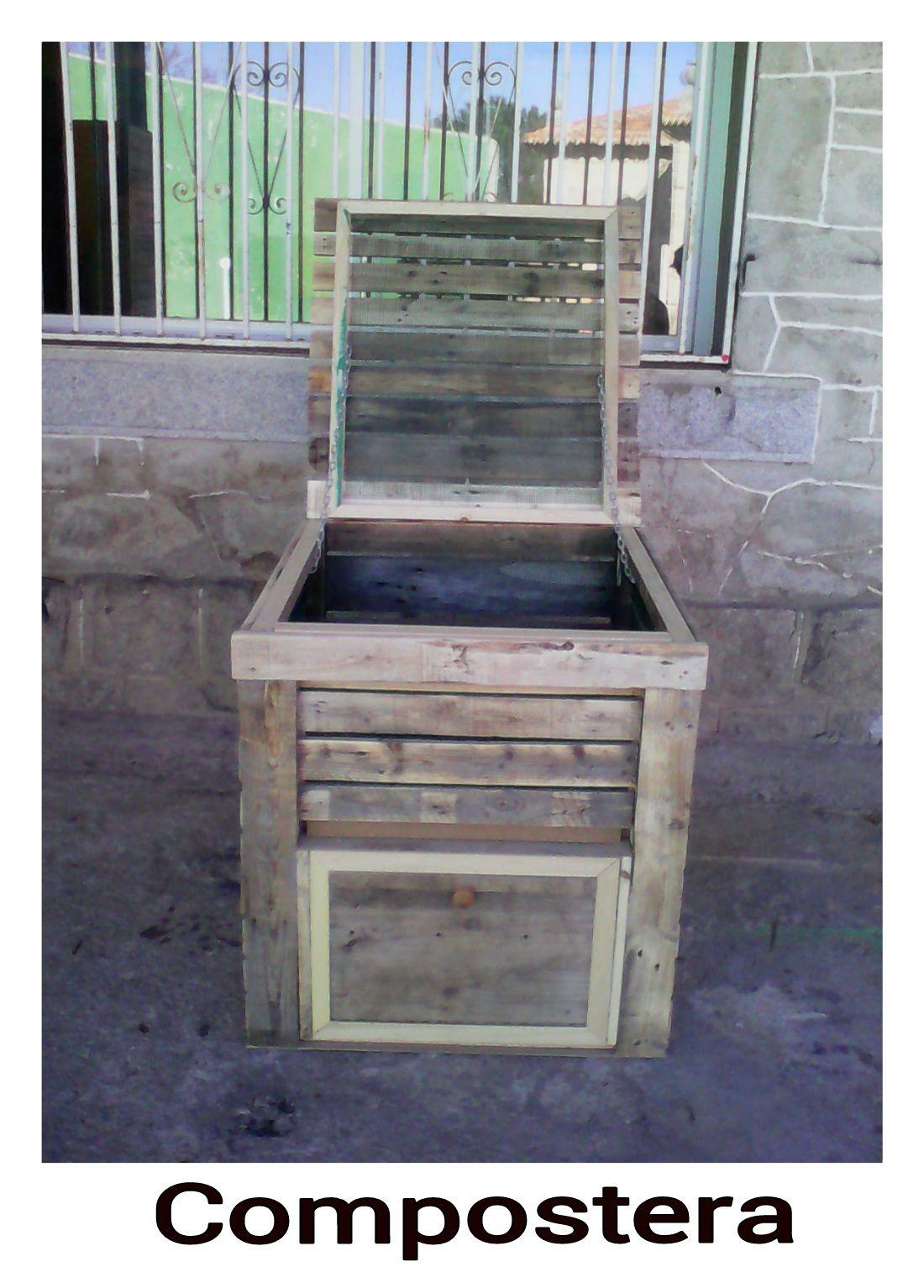Compostera Hecha Con Maderas Recicladas Nuestros Muebles  # Muebles La Huerta