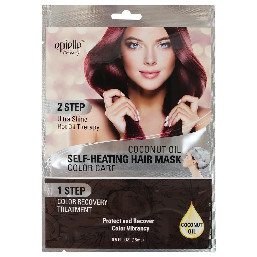 Epielle Coconut Oil Self Heating Hair Mask Color Care 1ct Hair