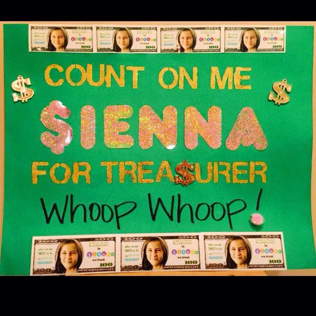 class treasurer poster class treasurer pinterest craft