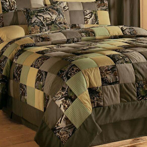 Camo Patchwork Quilt Sets Home Home Decor Camo Bedding