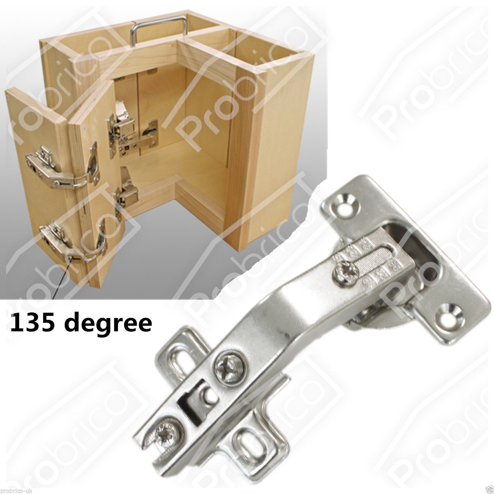 Hinges For Kitchen Cabinets Wood Countertops 1 Pair Corner Folded Folden Cabinet Cupboard Door