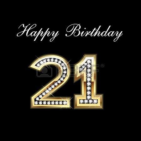 Stock Vector Happy 21st Birthday Wishes Happy 21st Birthday Quotes Happy 21st Birthday