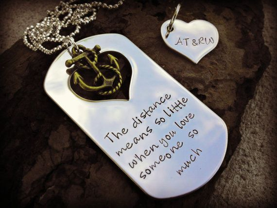 Deployment Necklace Military Sepration Hand by SweetAspenJewels