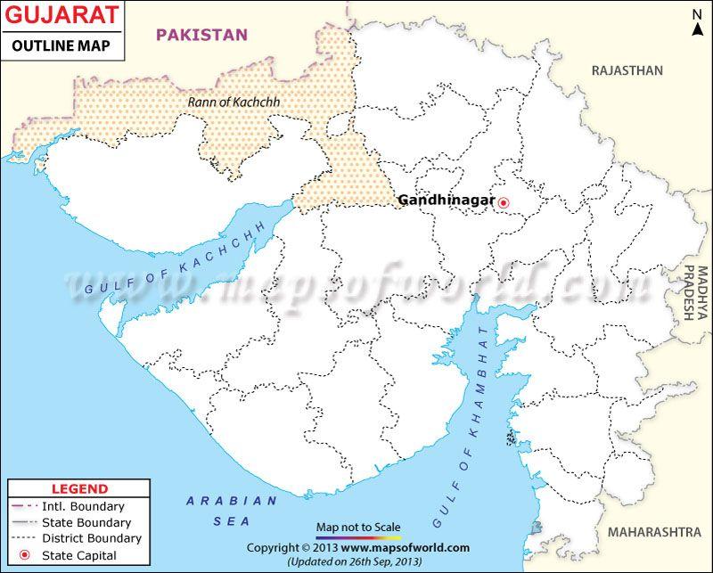 Gujarat outline map maps pinterest outlines gujarat outline map gumiabroncs Choice Image