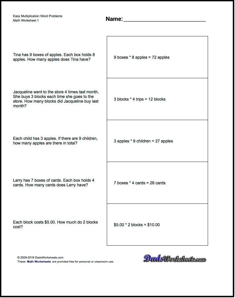 Solving Equations Word Problems Worksheet Free Printable Introductory Word Problem Worksheets For In 2020 Math Word Problems Word Problem Worksheets Math Words